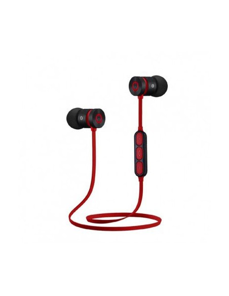 W2, magnetici, microfono, black-red, sport